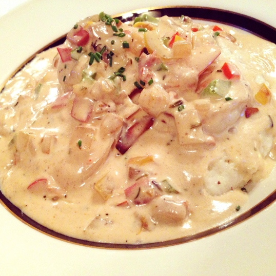 Wentworth Mansion in Charleston has a complimentary breakfast serving local favorites such as Shrimp & Grits