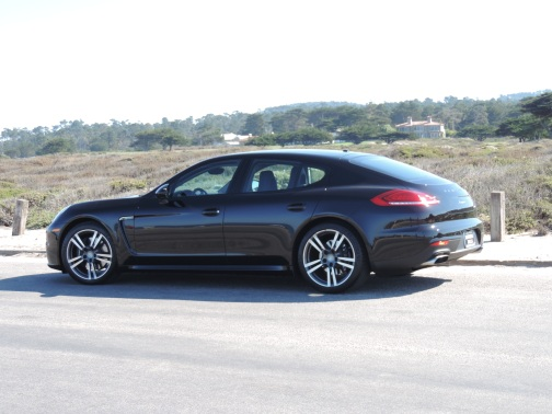 Cruising through the curves on the 17-mile drive on the Monterey Peninsula in a Porsche Panamera