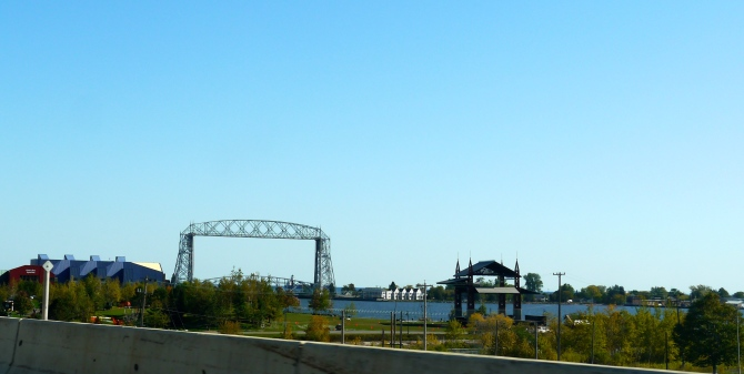 The famed draw bridge in the Lake Superior Harbor in Duluth.