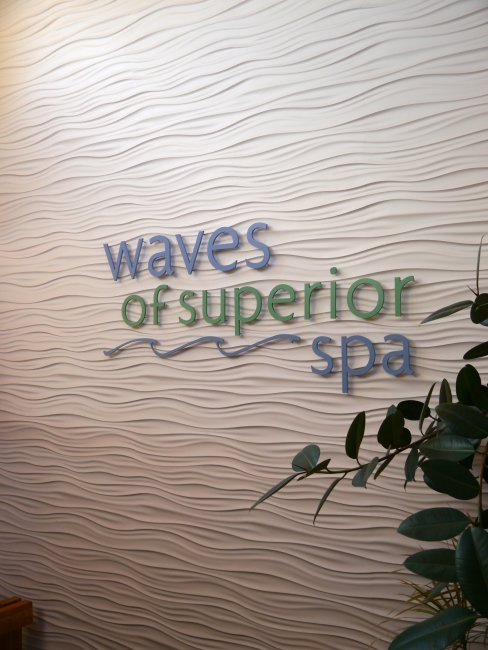 Waves of Superior Spa at Surfside on Lake Superior.