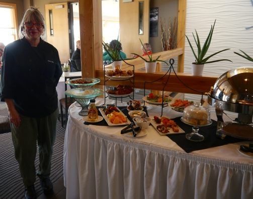 Chef Judy serves up an amazing fresh and locally inspired Sunday brunch spread: Belgian waffles  with Caribou Maple Syrup, Minnesota wild rice and sausage gravy over biscuits,  homemade granola, cheese blintzes, and other fresh pastries....