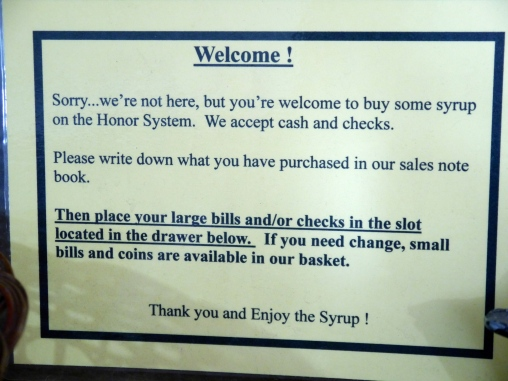 Only in Minnesota could you feel confident in relying on the honor system for your customers to pay for their purchases.