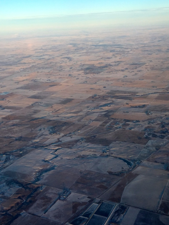 The flat frozen tundra that surrounds Regina, SK