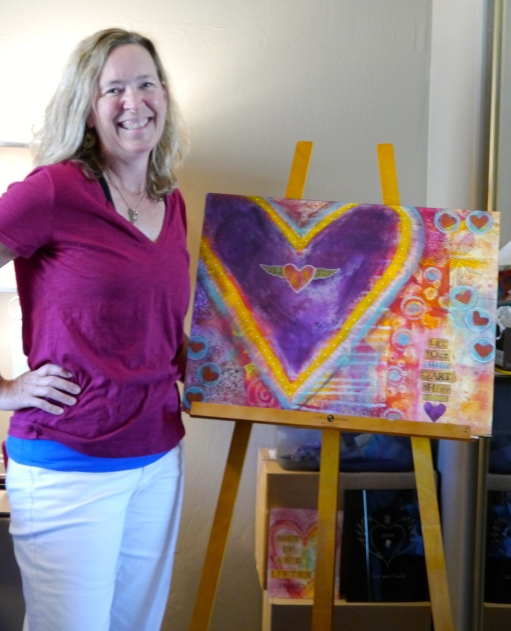 Budding new artist Vicki O'Connor may not have exhibits and collections all over the world - yet, but her passion for the art creates is no less passionate than those have achieved widespread acclaim.