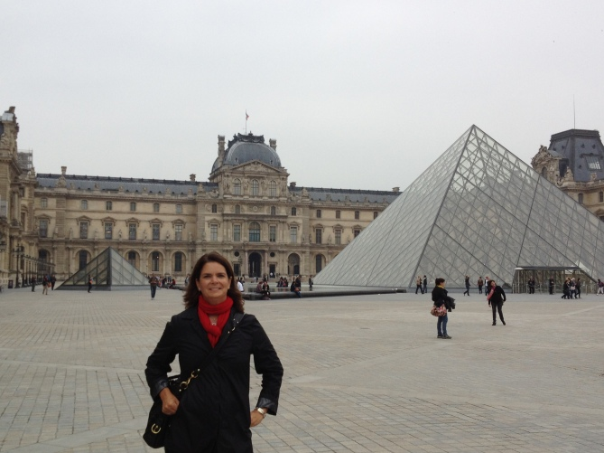 The Louvre in Paris, France - part of the museum originated as a fortress in the 12th century, then a palace in the 16th century, and finally the museum it is today in the 18th century.
