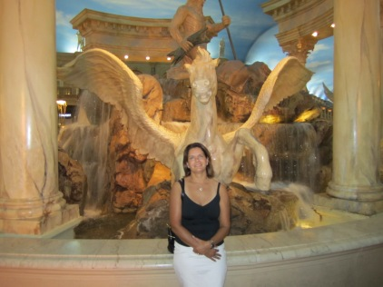 The Trevi Fountain in the Forum Shops of Caesar's Palace, outside the Trevi Italian Restaurant.