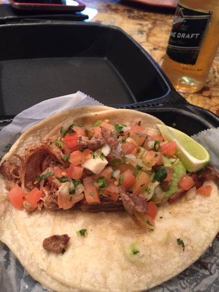 A carne asada soft shell taco from Senor Taco, Fountain Hills.