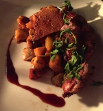 Duck breast with veggies, duck confit and gnocchi