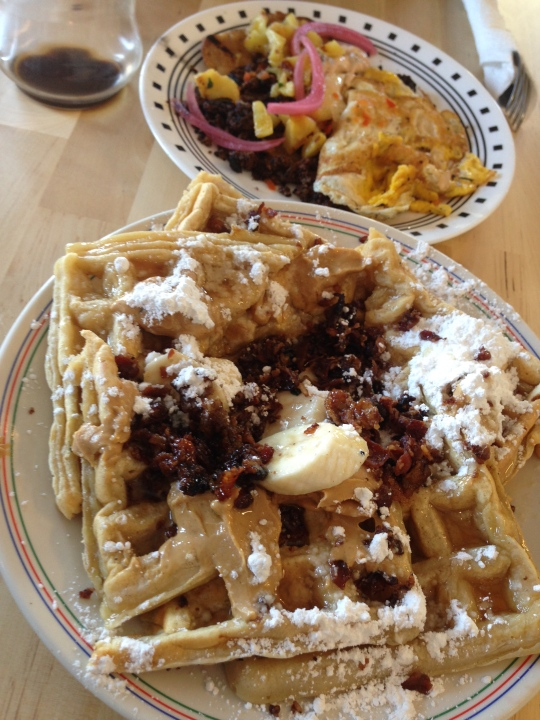 The Elvis Waffle at Anderson's 1949 eatery in Brooklyn