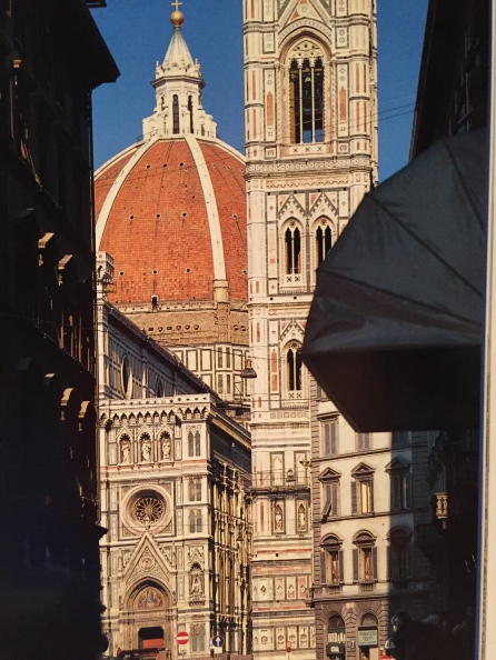 The Duomo in Florence, showcasing the locally mined stone used to build this beautiful cathedral.