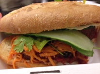 A delectable sandwich from Num Pang's in lower Manhattan.