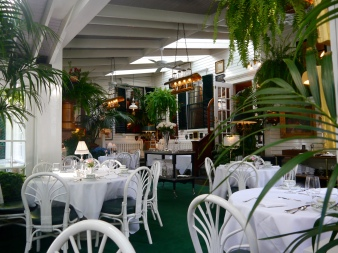 The Terrace restaurant at The Charlotte Inn - a fine dining experience of American cuisine.