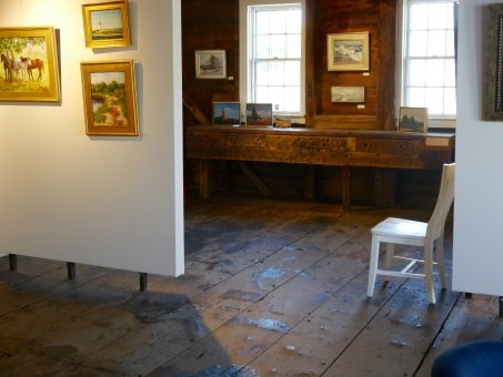 The newly opened gallery selling works of art from local artists, housed in a 250-year old boat house.