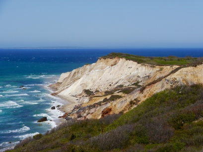 The clay cliffs of Aquinnah, on the western tip of Martha's Vineyard. They are protected and untouched by man.