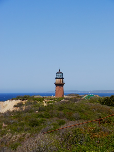 The Gay Head lighthouse, used as a marker by some of the country's earliest whaling boats.