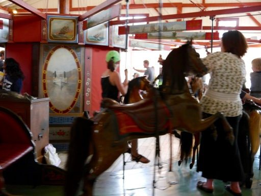 The Flying Horses Merry-Go-Round at Oak Bluffs on Martha's Vineyard.