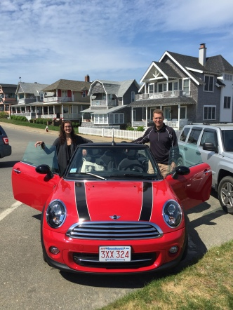 The little Mini-Cooper we rented to tool around the island!