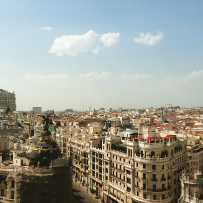View of Madrid from Tartan Roof (completely worth the 4 euro entry fee).