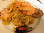 Seafood paella at La Barraca in Madrid.