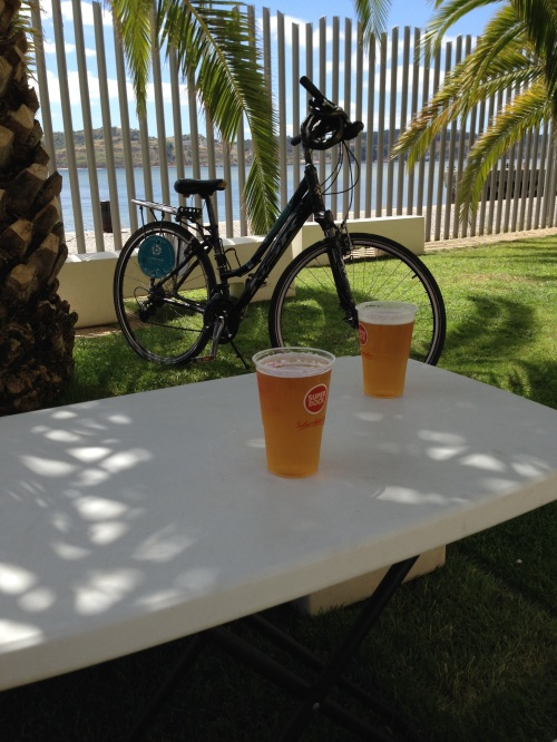A pit stop along the Poetry Bike Lane for sardine sandwiches and beer at Sol e Pesca.